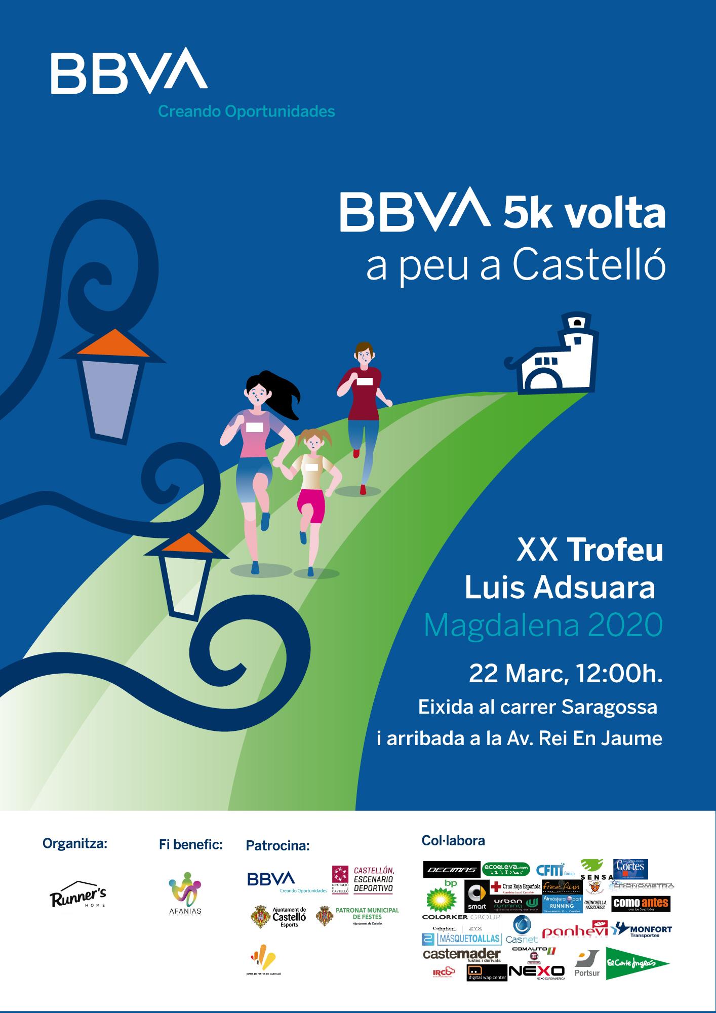 BBVA 5K -VOLTA A PEU A LA CIUTAT DE CASTELLO-XX TROFEU LUIS ADSUARA